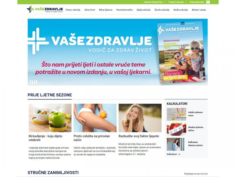 Vaše zdravlje magazine gives way to an online health portal